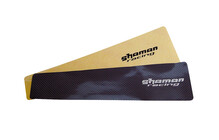 SHAMAN RACING Safety Sticker 80x280mm Clair